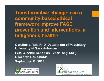 Transformative change: can a community-based ethical ... - Motherisk