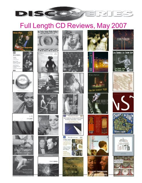 DISCoveries - May 2007 WholeNote - The Wholenote Magazine