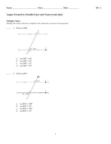 3-Parallel Lines and Transversals