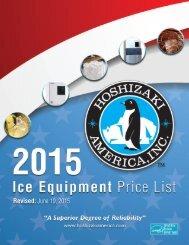 Ice Equipment Price List