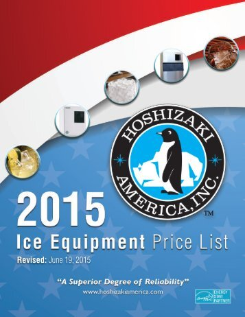 Ice Equipment Price List