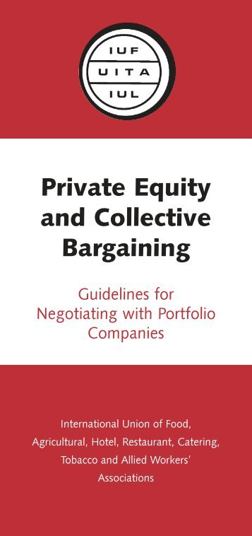 Private Equity and Collective Bargaining - IUF