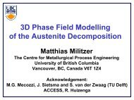 3D Phase Field Modelling of the Austenite Decomposition - alemi.ca