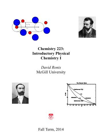 Chemistry 223F : Introductory Physical Chemistry ... - McGill University