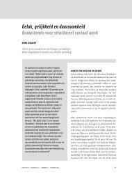 Geluk, gelijkheid en duurzaamheid Bouwstenen voor ... - Dirk Geldof