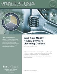 Review Software Licensing Options - Info-Tech Research