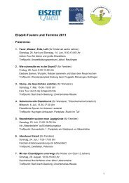 Eiszeit-Touren und Termine 2011 - EiszeitQuell