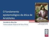 O Fundamento Epistemológico da Ética de ... - Desidério Murcho