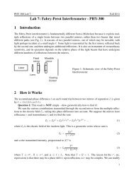 Lab 7: Fabry-Perot Interferometer - PHY-300 1 Introduction 2 How it ...