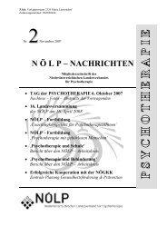 NN 2/2007 - Österreichischer Bundesverband für Psychotherapie