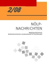 NEU im NÖLP - Österreichischer Bundesverband für Psychotherapie