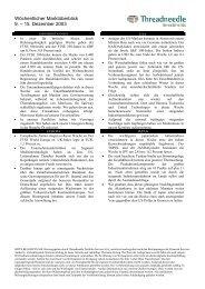 Threadneedle Wöchentliche Marktanalyse - FONDS professionell