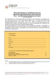 Kriterienkatalog zur Zertifizierung von - Österreichischer ...