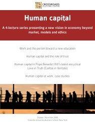 Human Capital Cover - Crossroads Cultural Center