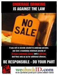 Responsible Alcohol Sales & Service Ad - AlcoholPolicyMD.com