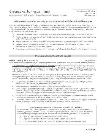 sample mba resume