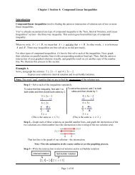 Chapter 1 Section 4: Compound Linear Inequalities Introduction ...