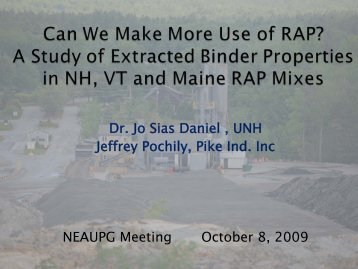 A Study of Extracted Binders Properties in NH, VT and ME ... - neaupg
