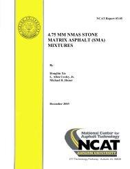 4.75 mm nmas stone matrix asphalt (sma) mixtures - Auburn University