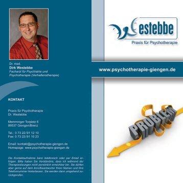 Flyer (PDF-Format 800 KB) - Psychotherapie Giengen