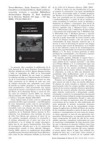 El Cantábrico en la Edad del Hierro. Medio ambiente, economía ...