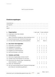 Evaluierungsbogen