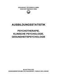 AUSBILDUNGSSTATISTIK - Österreichischer Bundesverband für ...