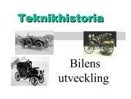 Bilens utveckling - Teknik från Lillåns skola