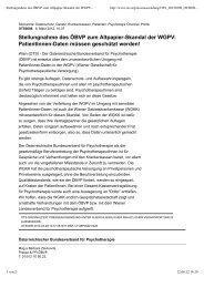 Stellungnahme des ÖBVP  zum Altpapier-Skandal der WGPV ...