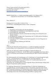 1 Wiener Landesverband für Psychotherapie (WLP) c/o 1030 Wien ...