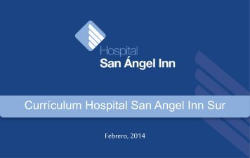 Currículum Hospital Título San Angel Inn Sur