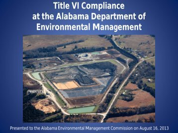 Title VI Compliance at the Alabama Department of Environmental ...