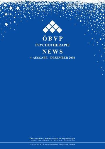 öbvp psychotherapie news 4. ausgabe - dezember 2006