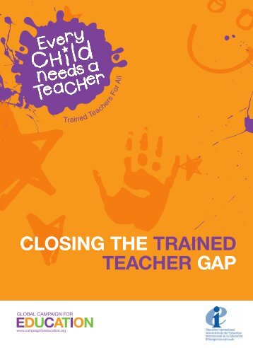 Closing the Trained Teacher Gap - Global Campaign for Education