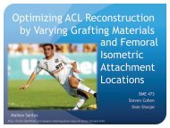 Optimizing ACL Reconstruction by Varying Grafting Materials and ...