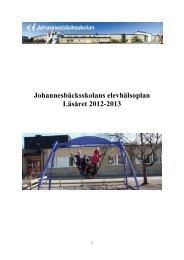 Johannesbäcksskolans elevhälsoplan Läsåret 2012-2013