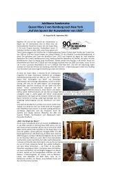 Jubiläums Sonderreise Queen Mary 2 von ... - First Reisebüro
