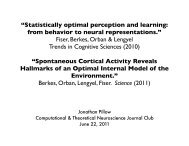 Statistically optimal perception and learning - Neural Coding and ...