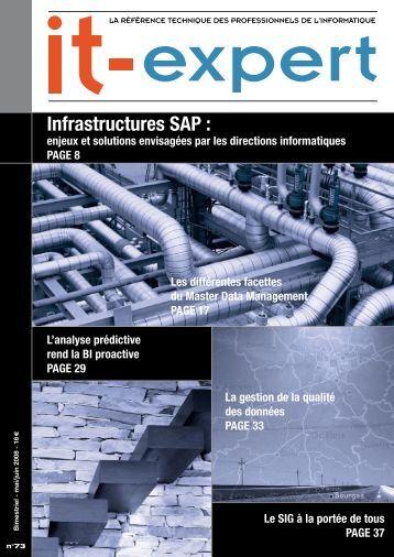 Infrastructures SAP : enjeux et solutions envisagées par ... - IT-expert