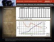 170 Super Sport: Mercury® 90 L4NA Stainless Steel Prop