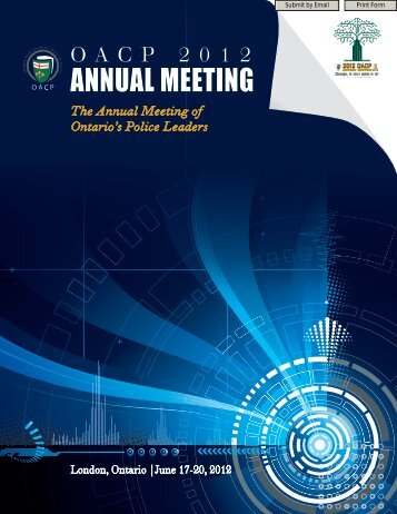 ANNUAL MEETING - Ontario Association Of Chiefs Of Police - OACP