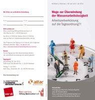 Konferenz - Arbeitsgruppe Alternative Wirtschaftspolitik