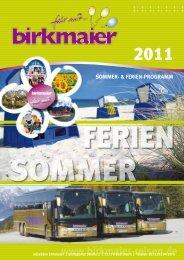 Tagesfahrten im August - Birkmaier Reisen