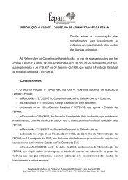 Resolução Conselho Administração FEPAM nº 2/2007 ... - Sema
