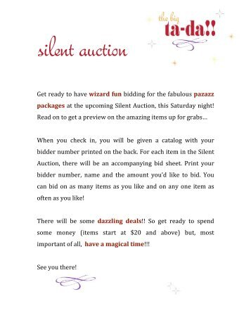 wizard fun - Westridge PTSO Benefit Auction