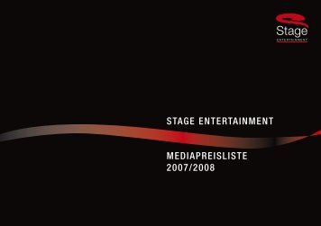 stage entertainment mediapreisliste 2007/2008 - Bader Media GmbH
