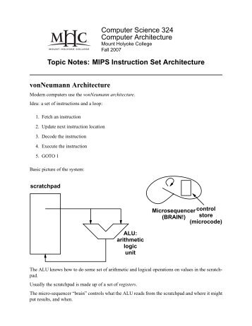 Topic Notes: MIPS ISA - Courses