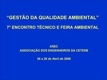 valores orientadores para solo e água subterrânea - ASEC