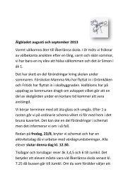 Älgbladet augusti och september 2013 Varmt välkomna åter till ...