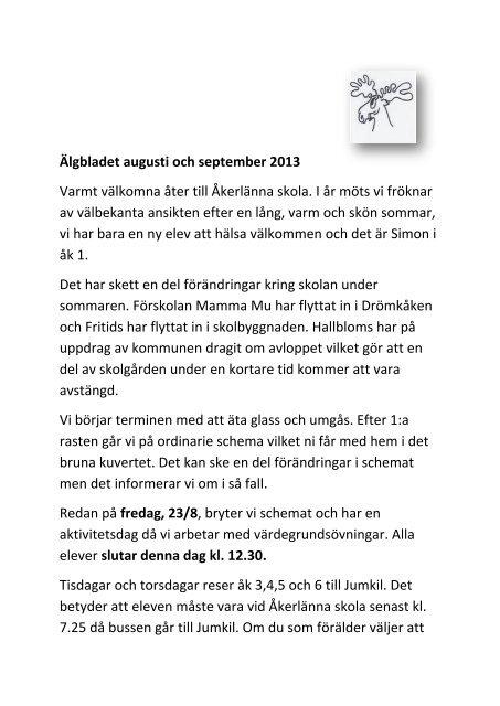f34b533497a1 Älgbladet augusti och september 2013 Varmt välkomna åter till ...